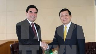 张晋主席密集会见出席联合国发展峰会的各国领导人