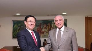 越南政府副总理王廷惠对巴西进行正式访问
