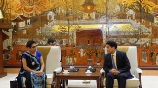 河内将在多个领域加强与斯里兰卡的合作