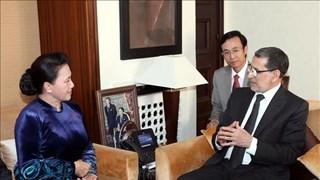 越南国会主席阮氏金银会见摩洛哥首相萨阿德丁·奥斯曼尼