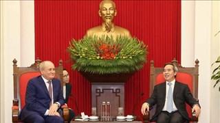 越共中央经济部部长阮文平会见俄罗斯天然气工业股份公司副总裁和哈佛大学教授代表团