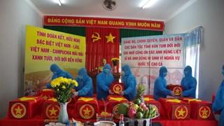 昆嵩省归集21具在老挝和柬埔寨牺牲的越南志愿军和专家烈士遗骸
