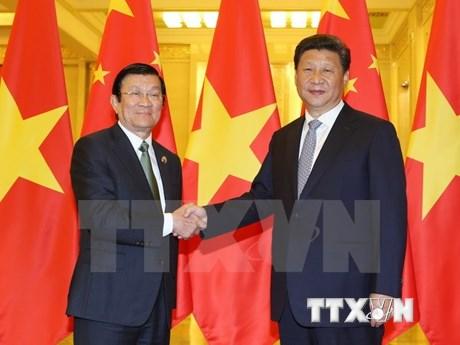 越南国家主席张晋创会见中共中央总书记、国家主席习近平