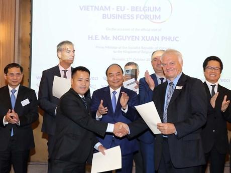 政府总理阮春福出席越南-欧盟与比利时企业论坛