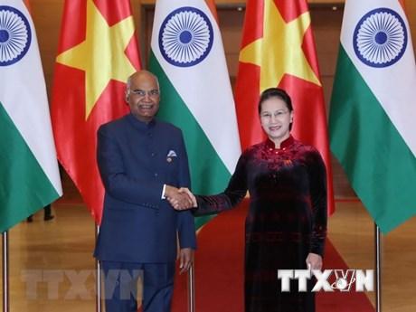 国会主席阮氏金银会见印度总统科温德