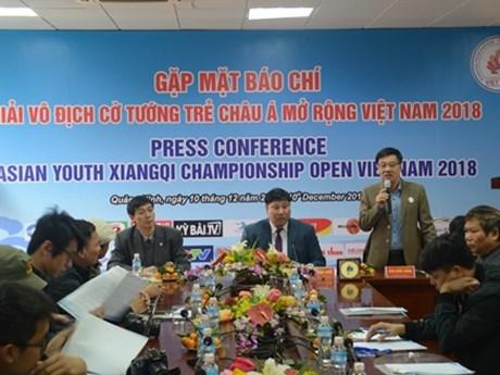 100多名棋手参加2018年越南亚洲青年象棋公开赛