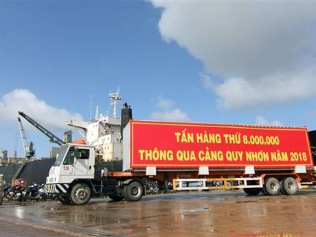 平定省归仁港年货物吞吐量创新高