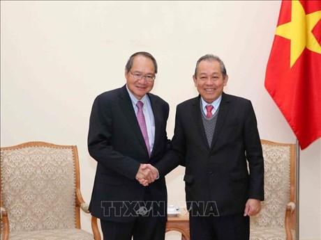 越南政府副总理张和平:越南与新加坡通过刑事司法协助加强打击犯罪合作