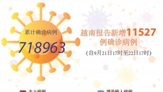 图表新闻:越南报告新增11527例确诊病例 新增死亡病例236例