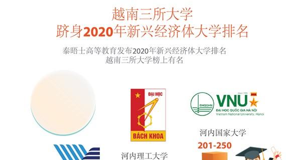 图表新闻:越南三所大学跻身2020年新兴经济体大学排名