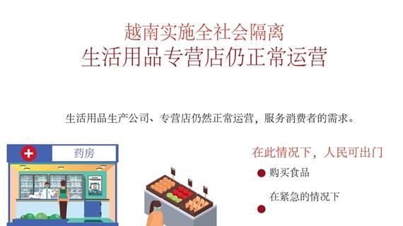 图表新闻:越南实施15天全社会隔离  生活用品专营店仍正常运营