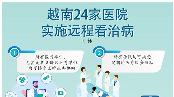图表新闻:越南共有24家医院实施远程看治病