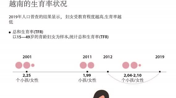 图表新闻:越南的生育率状况