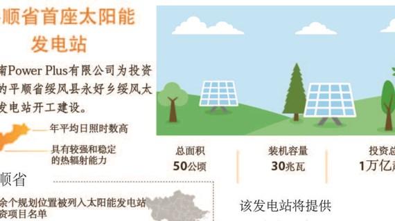 图表新闻:平顺省首座太阳能 发电站