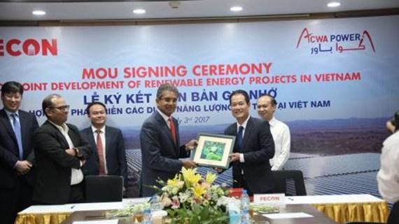 越南与沙特阿拉伯企业合作开展可再生能源项目