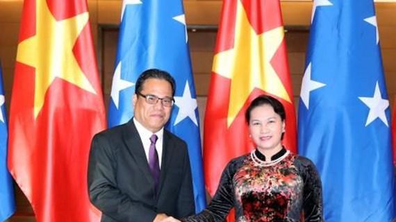 密克罗尼西亚联邦国会议长圆满结束访越之旅