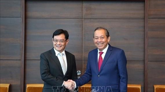 越南政府常务副总理张和平对新加坡进行正式访问