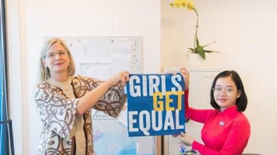 瑞典驻越南大使馆向越南女童赋予领导权