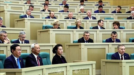 越南国会主席阮氏金银出席俄罗斯联邦委员会全体会议