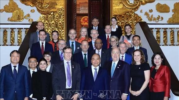 阮春福总理会见美国-东盟商务理事会主席
