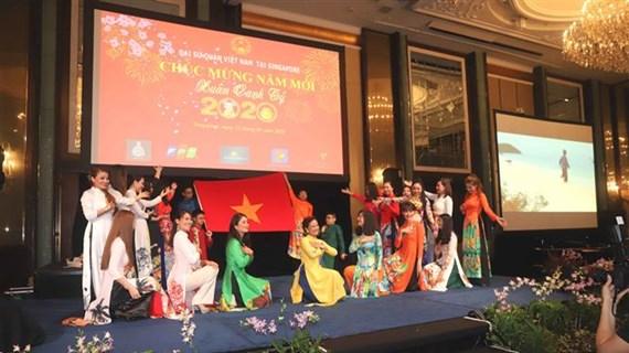 越南驻外使馆纷纷开展迎新春活动
