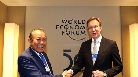 张和平副总理出席世界经济论坛第50届年会的系列活动