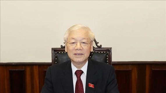 越共中央总书记阮富仲:同心协力打赢新冠肺炎疫情防控阻击战