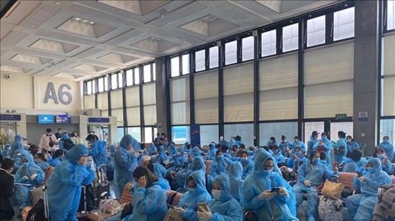 越南将340多名越南公民从中国台湾接回国