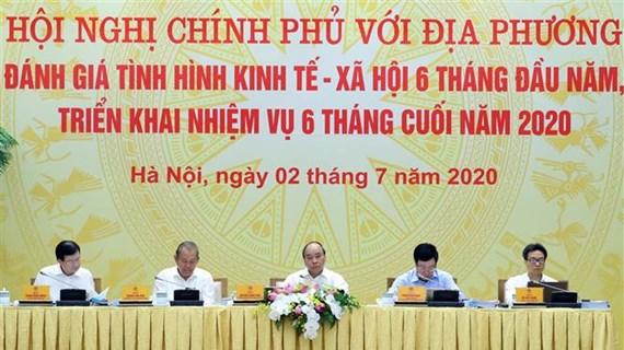 越南政府总理阮春福主持政府与各地方全国视频会议