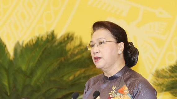 国会主席阮氏金银出席河内市第十五届人民议会第十五次会议