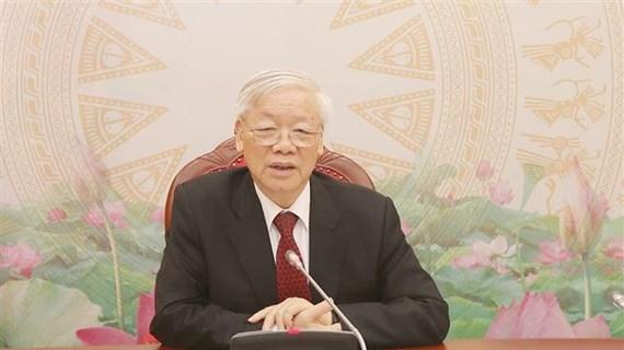 越共中央总书记、国家主席阮富仲与柬埔寨首相、柬埔寨人民党主席洪森通电话