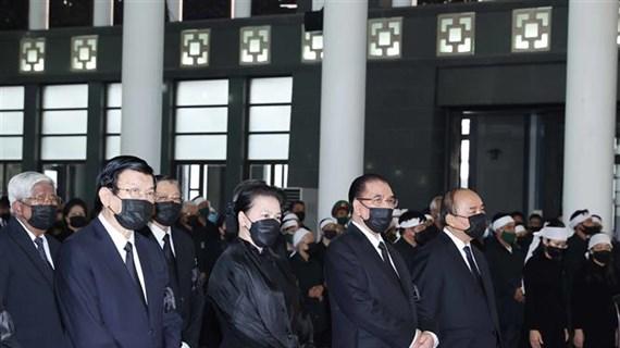 原越共中央总书记黎可漂追悼会和安葬仪式举行