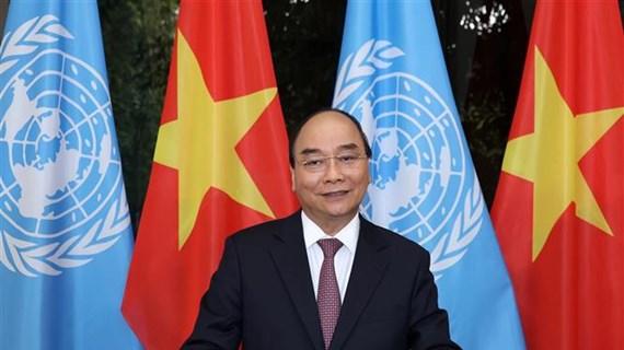阮春福以提交讲话录像的方式参与第75届联大一般性辩论和系列高级别会议