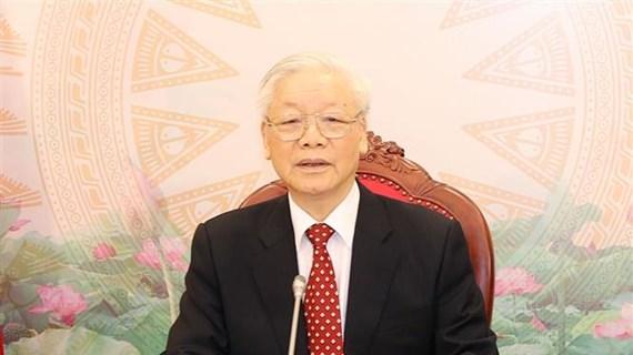 越共中央总书记、国家主席阮富仲与中共中央总书记、国家主席习近平通电话