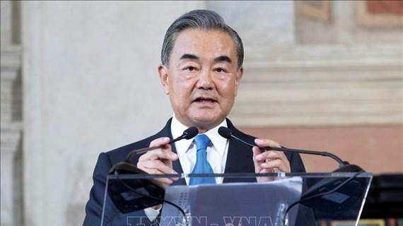 中国外长访问泰国