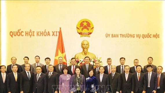 国会主席阮氏金银会见越南驻外大使和代表机构首席代表