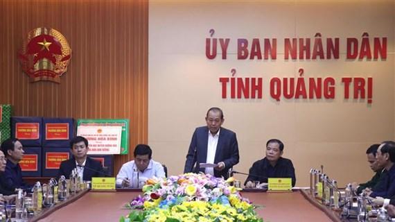 政府副总理张和平指导广治省救灾工作