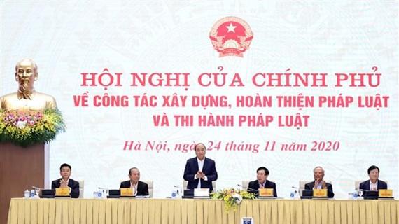 政府总理阮春福:处理好法律制定配合工作中存在的缺陷和不足