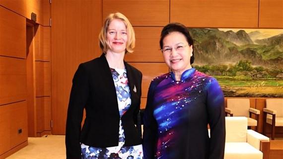 越南国会主席阮氏金银会见新西兰、智利和印尼驻越大使