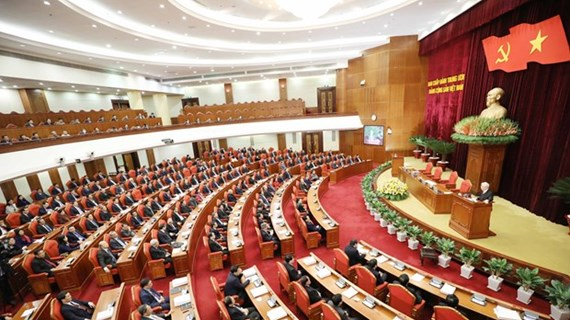 越南共产党第十二届中央委员会第十五次全体会议隆重开幕