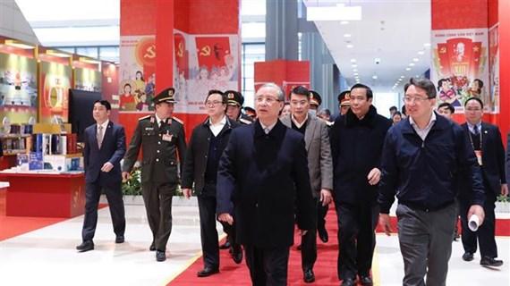 越共中央书记处常务书记陈国旺对越共十三大的筹备工作进行实地检查