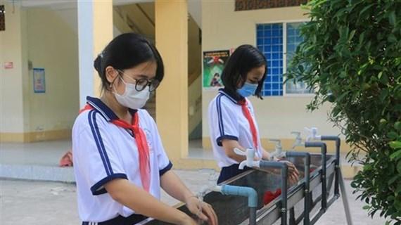 3月初胡志明市的学生重返校园