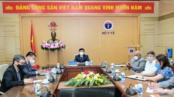越南卫生部与古巴商讨新冠肺炎疫苗生产合作