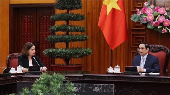 越南政府总理范明政会见澳大利亚驻越大使罗宾·穆迪