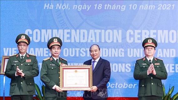越南国家主席表彰在参与联合国维和行动中取得优异成绩的集体和个人