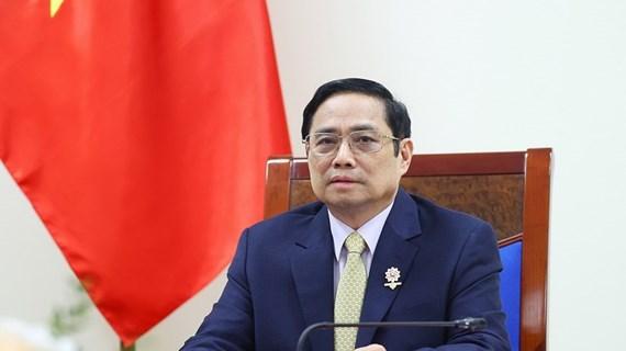 越南政府总理范明政与英国首相约翰逊通电话