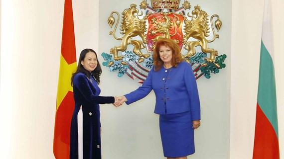 越南国家副主席武氏映春对保加利亚进行正式访问