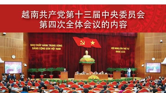 图表新闻:越共第十三届中央委员会第四次全体会议的内容