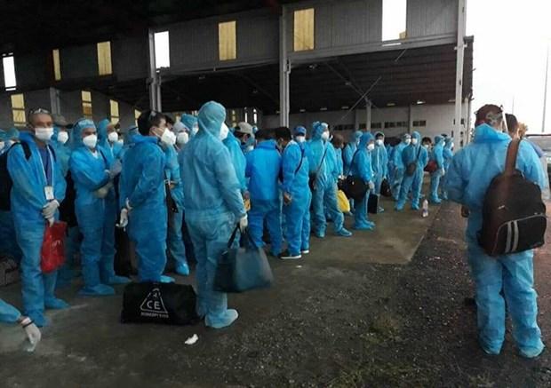 组图:从赤道几内亚回国的219名越南公民在中央热带疾病医院第二分院接受隔离 hinh anh 2