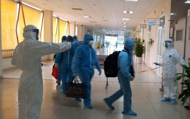 组图:从赤道几内亚回国的219名越南公民在中央热带疾病医院第二分院接受隔离 hinh anh 4